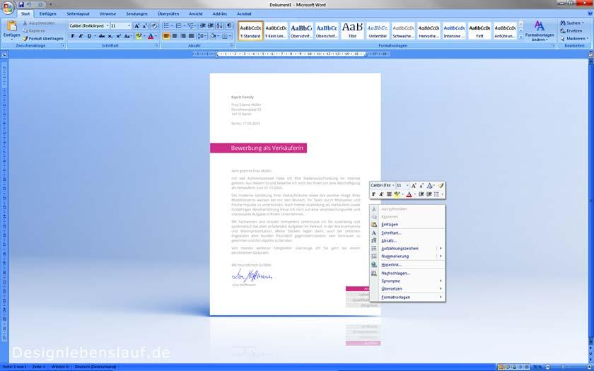 Beispiel Lebenslauf Mit Design Deckblatt Und Anschreiben