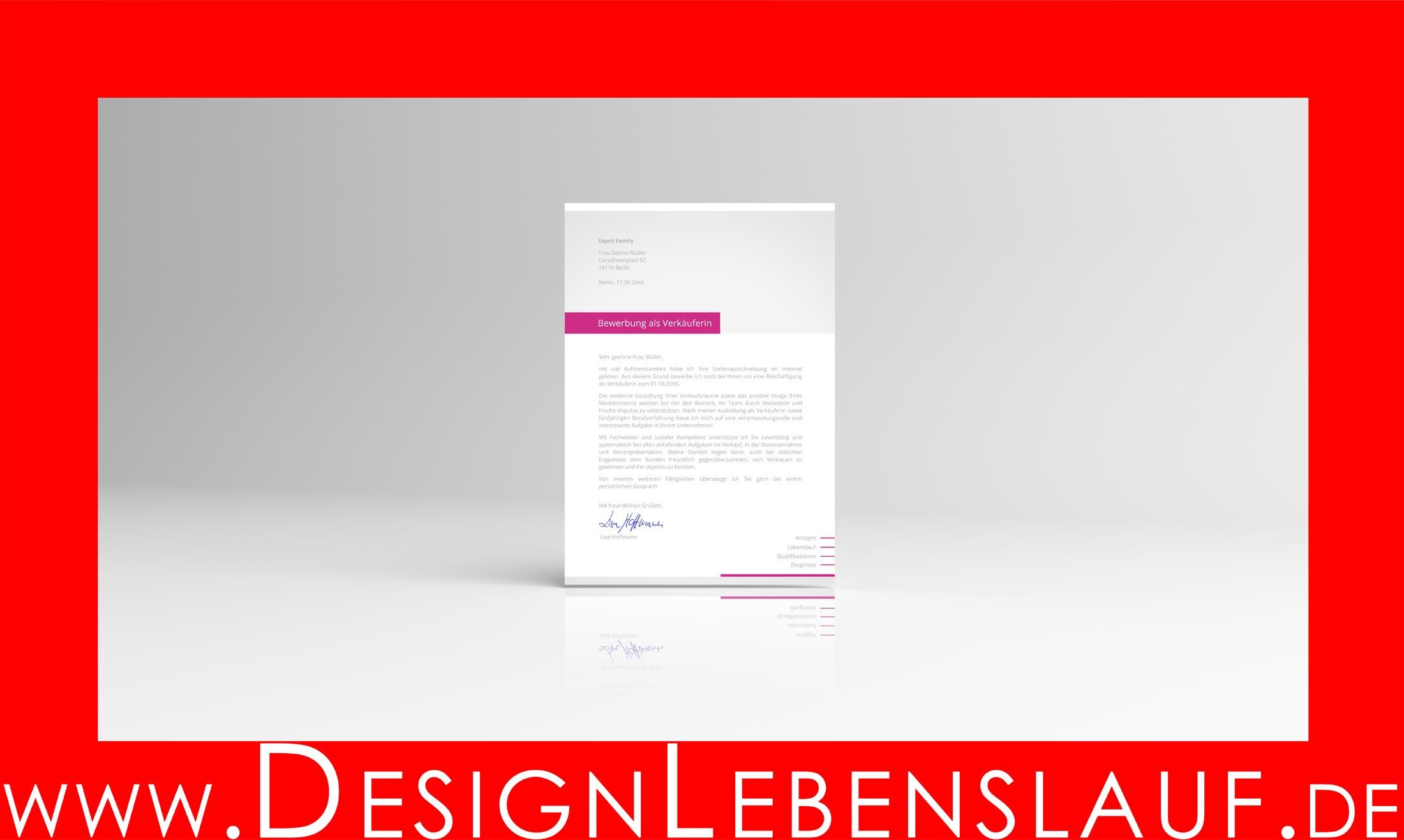 Muster Bewerbung vom Designer für MS Word und WPS Office