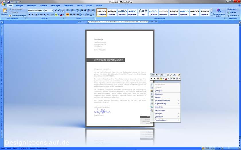 Initiativbewerbung Vorlage In Word Zum Herunterladen