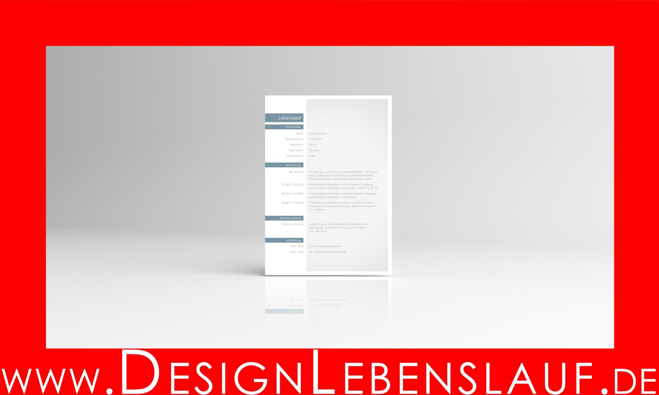 Anschreiben Bewerbung mit Designlebenslauf als Download