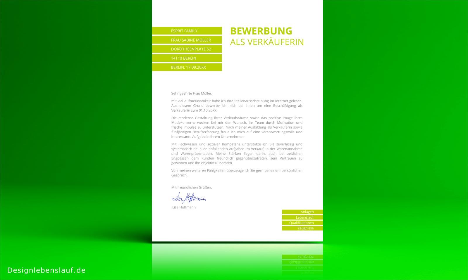 Bewerbung design mit anschreiben lebenslauf deckblatt Create a blueprint online