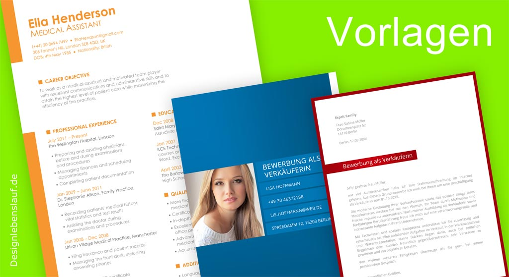 Cover Letter Template And Curriculum Vitae Example In Word