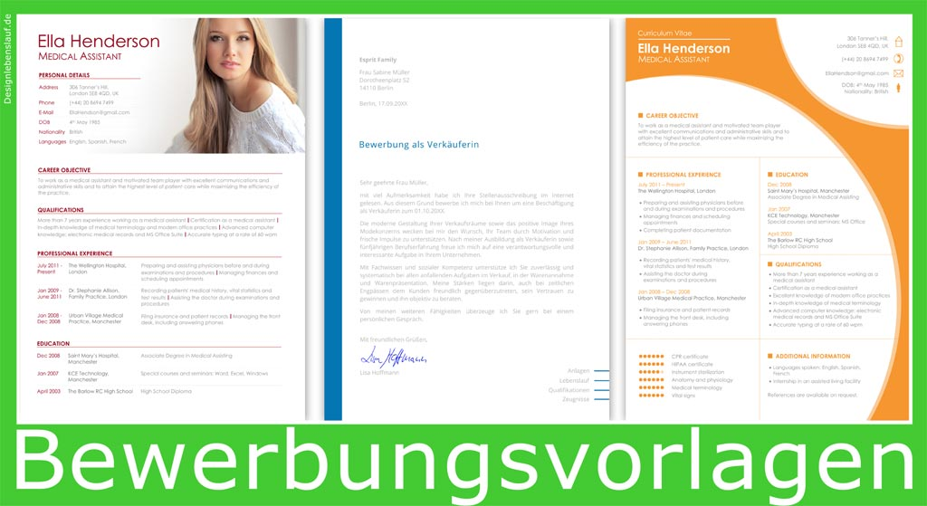 Resume Templates And Covering Letter In Word & Openoffice