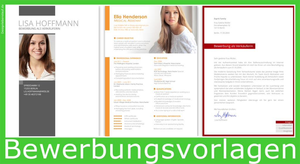 Lebenslauf Bewerbung Zum Sofortdownload In Word Open Office