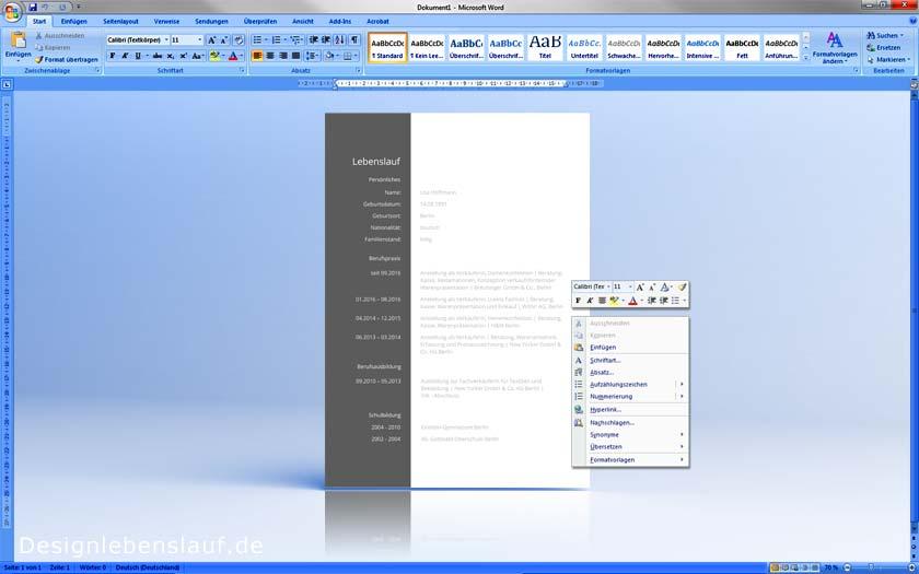 Ausgezeichnet Einen Lebenslauf In Microsoft Word Für Mac Machen ...