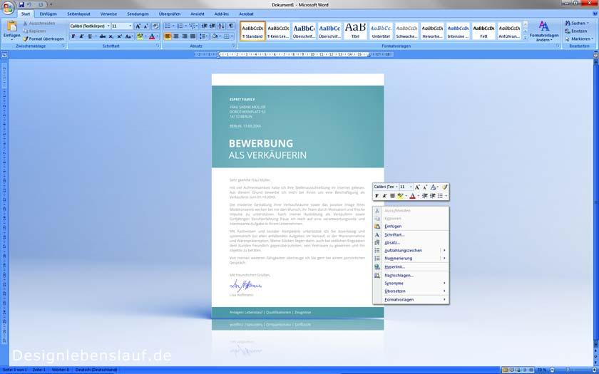 Email Bewerbung Mit Deckblatt, Anschreiben Und Lebenslauf