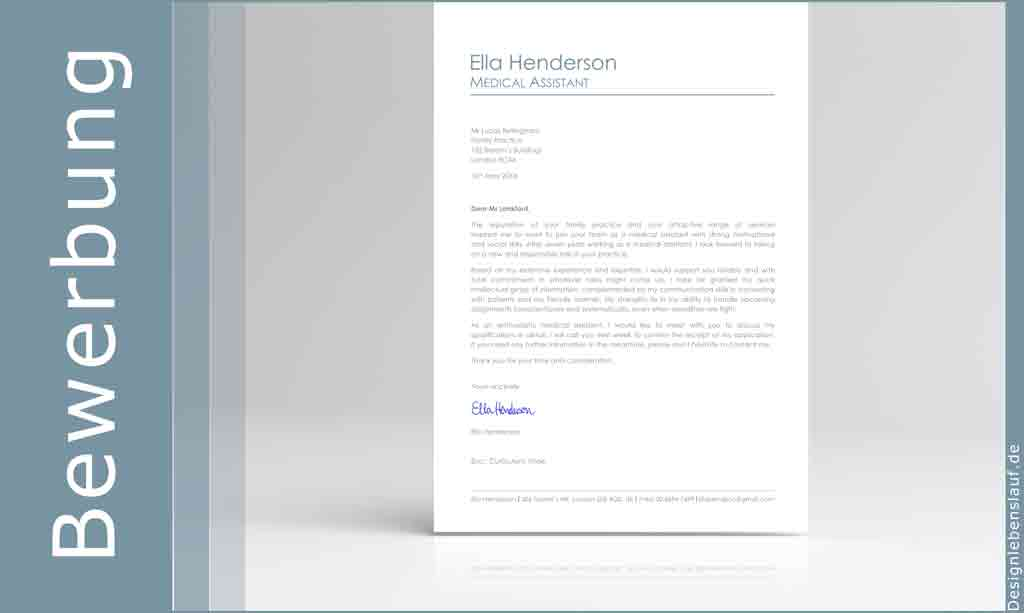English Cv With Cover Letter In Ms Word – Download File