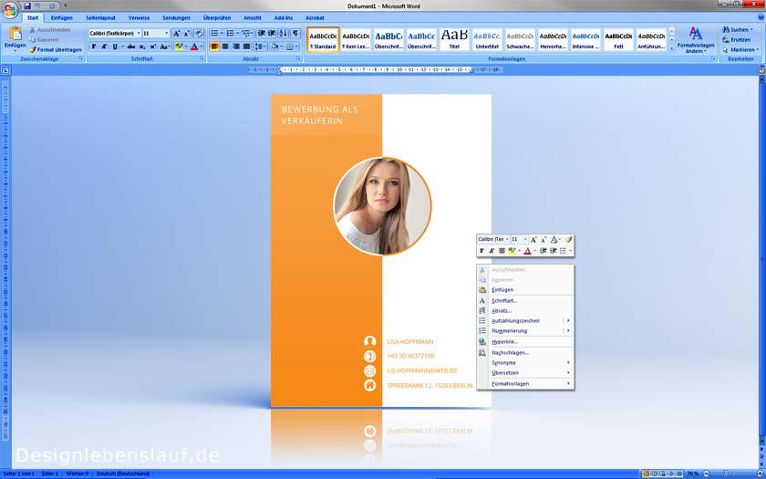 Lebenslauf Vorlagen Zum Download Mit Anschreiben Deckblatt