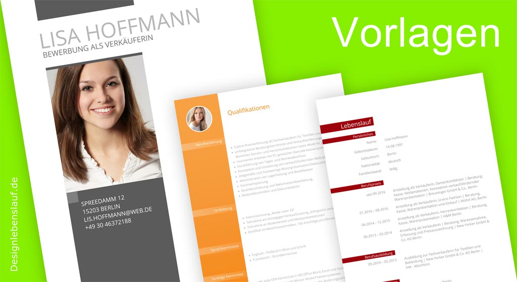 Lebenslauf Bewerbung Zum Sofortdownload In Word & Open Office