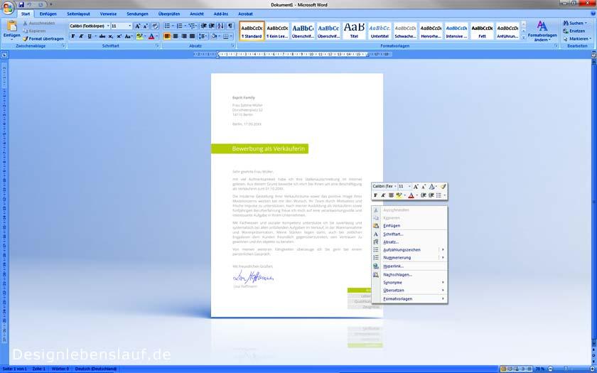 Lebenslauf Vorlage Word & Open Office zum Herunterladen