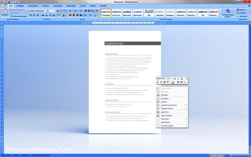 richtig bewerben mit vorlagen f r open office ms word