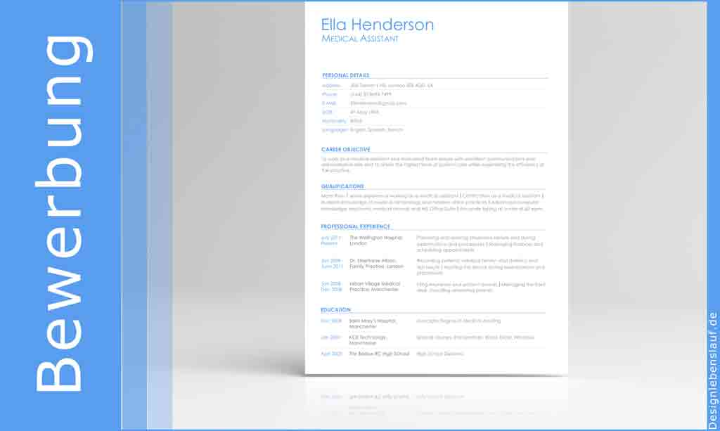 curriculum vitae sample english