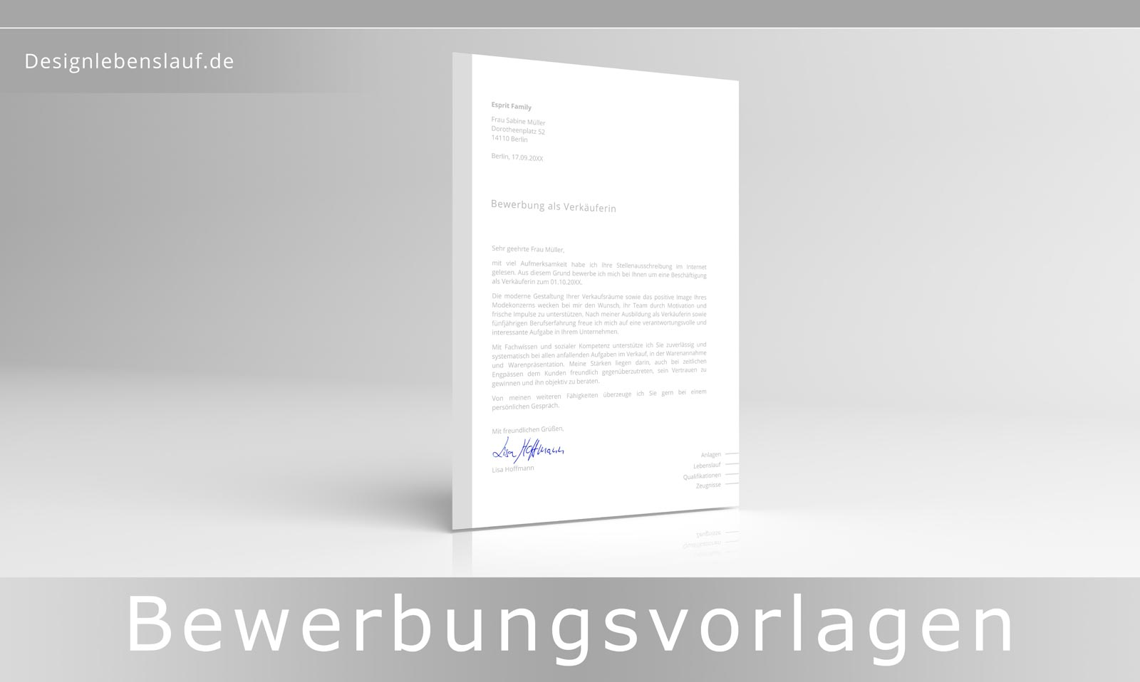 Bewerbung Per Email Mit Design Lebenslauf Und Anschreiben
