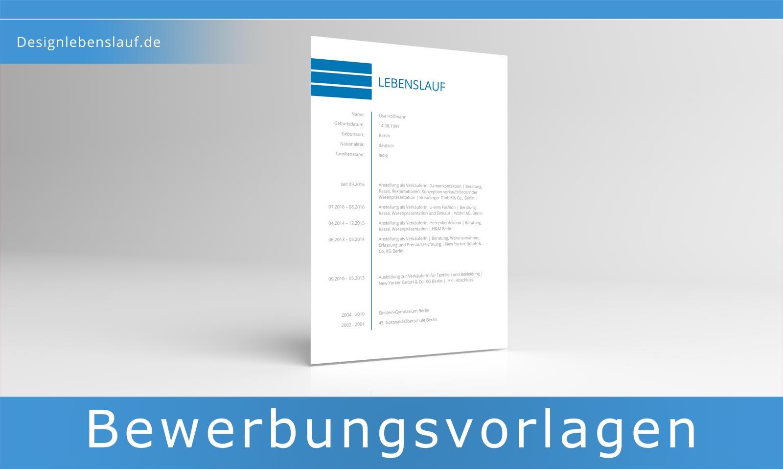 tabellarischer Lebenslauf Vorlage als Sofort Download