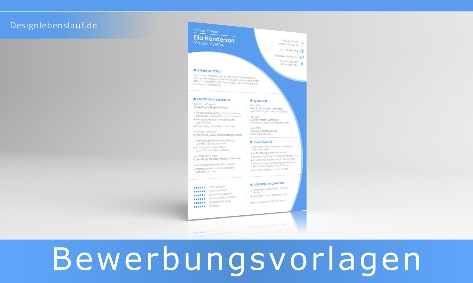 englischer Lebenslauf Vorlage mit Cover Letter als Download
