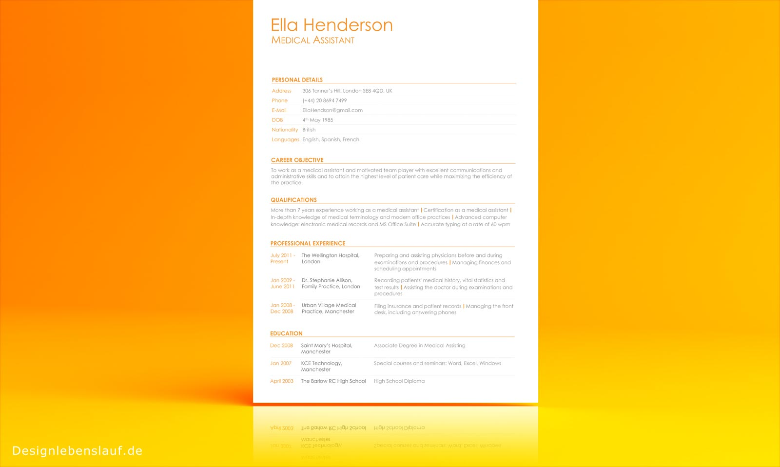 example of a resume