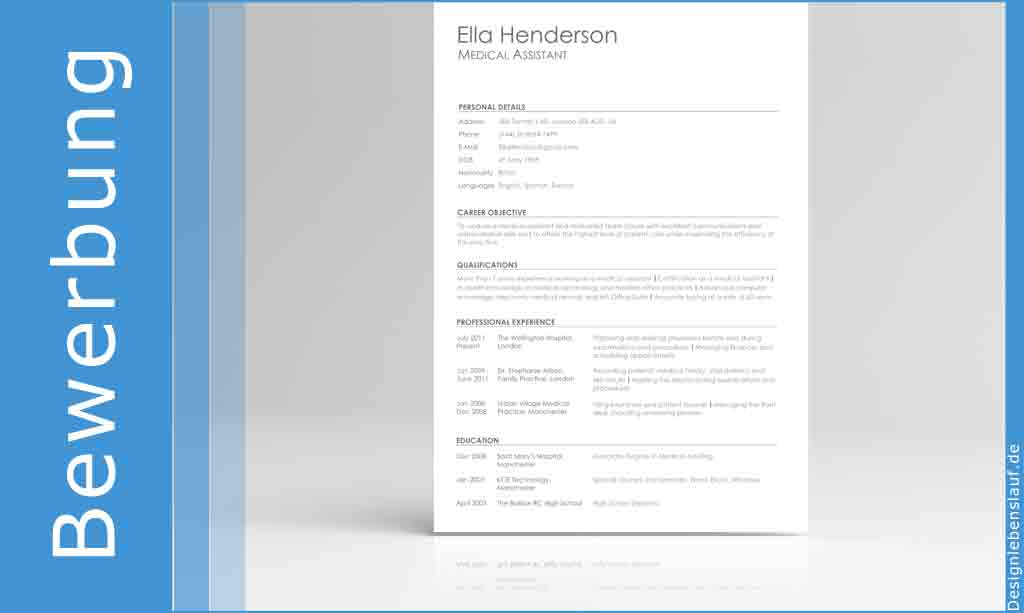 resume builder for word and openoffice with cover letter