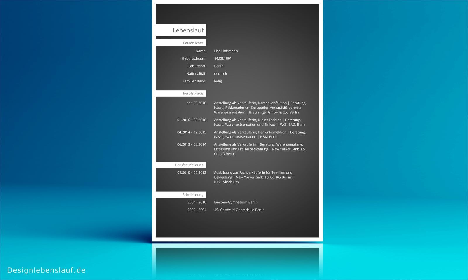 Vorlage Lebenslauf als Download mit Anschreiben in Word