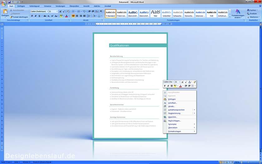 Bewerbungsschreiben muster word openoffice wps office for Weiterbildung design