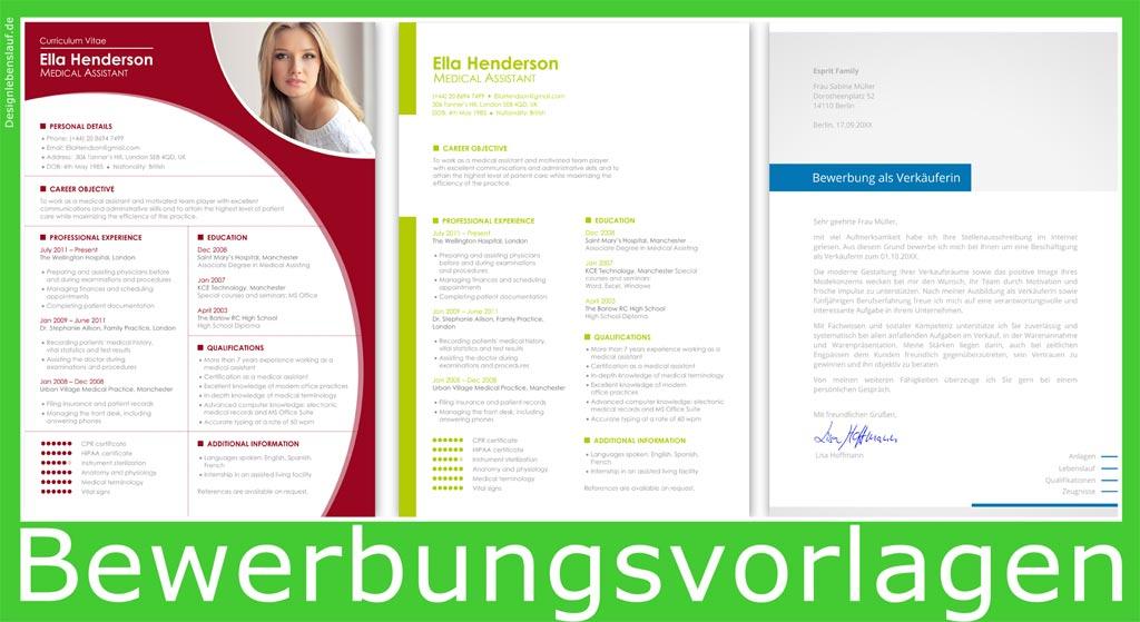 bewerbung auf englisch mit cover letter und cv zum download