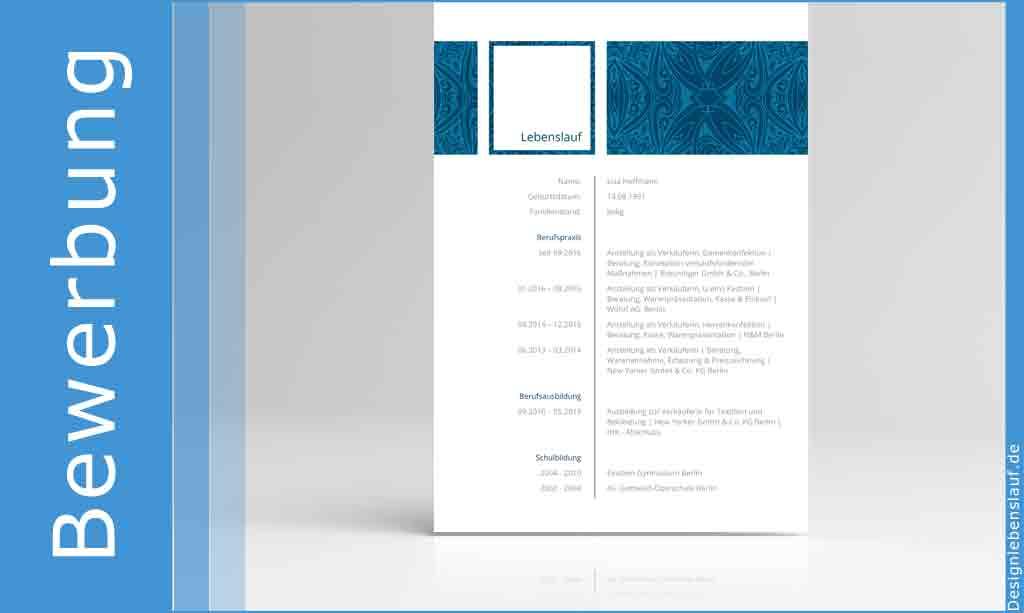 Mustertabellarischer Lebenslauf2 Seite2 Deckblatt Lebenslauf