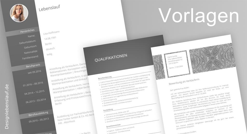 Lebenslauf Vorlagen zum Download mit Anschreiben & Deckblatt