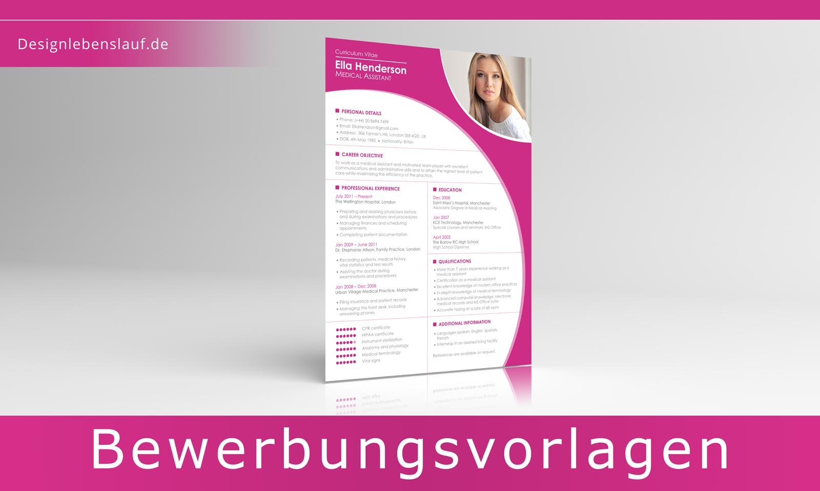 Lebenslauf amerikanisch resume mit cover letter zum download for Deutsch auf englisch ubersetzen