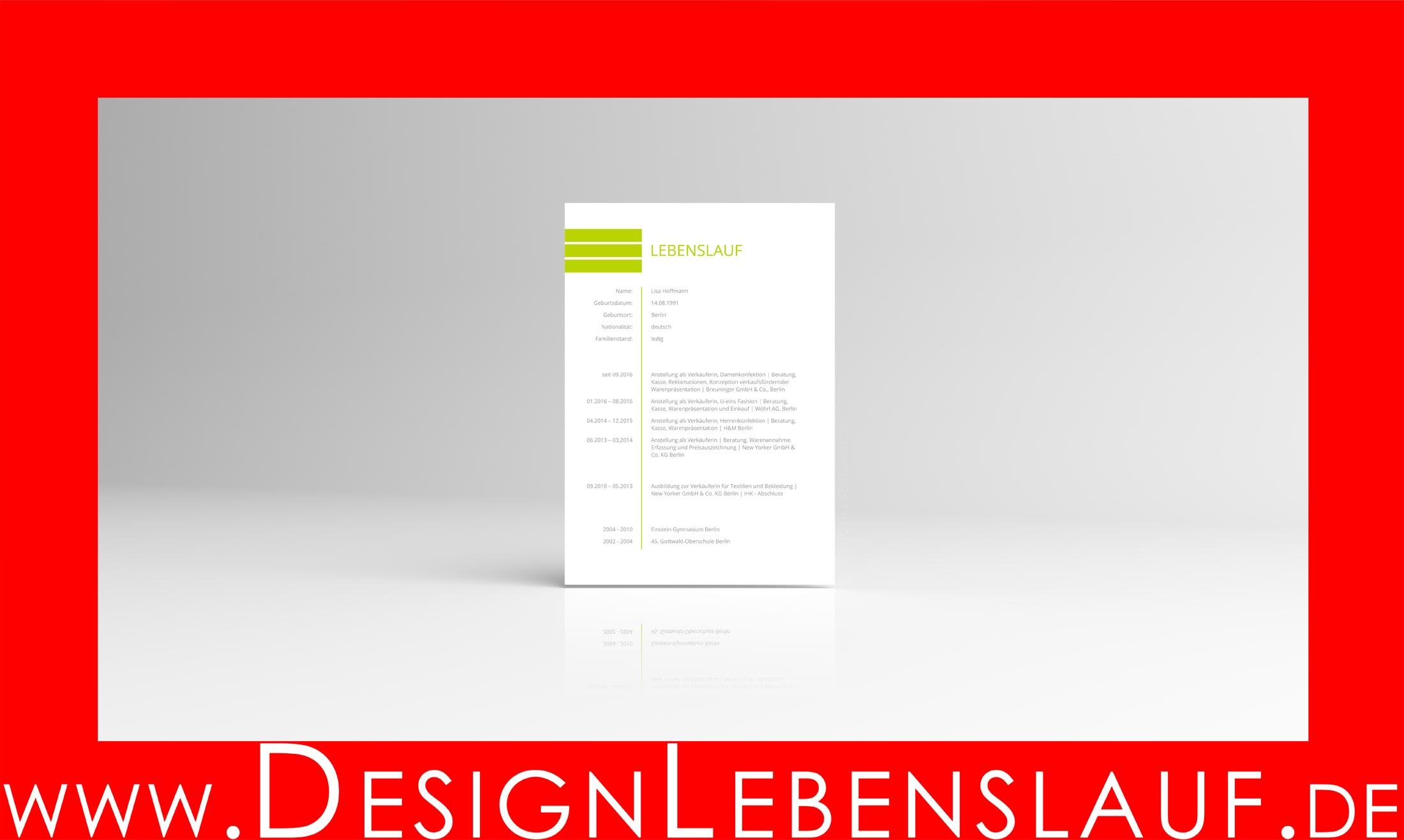 Bewerbung Design mit Anschreiben + Lebenslauf + Deckblatt