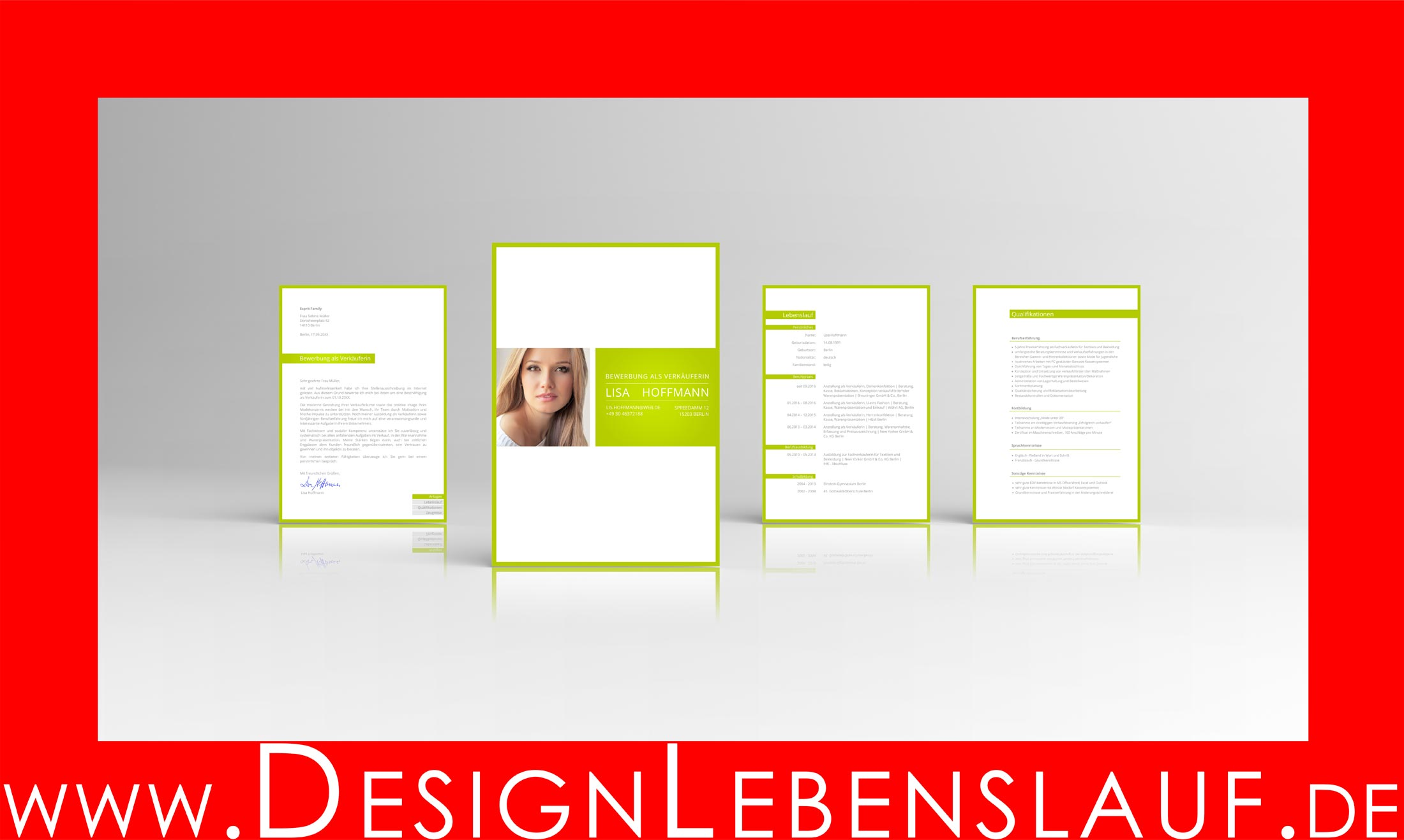Muster Lebenslauf für Word und Open Office   Designlebenslauf.de