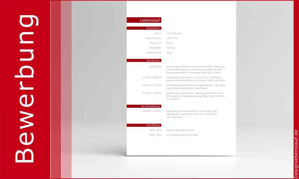 lebenslauf layout als bewerbungsvorlage mit anschreiben. Black Bedroom Furniture Sets. Home Design Ideas