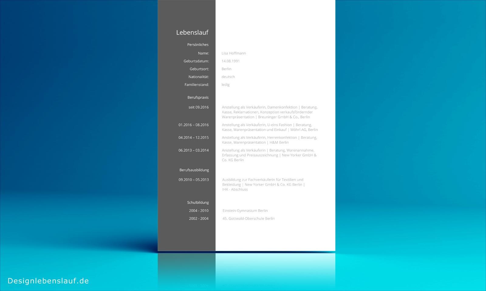 Lebenslauf Bewerbung zum Sofortdownload in Word & Open Office