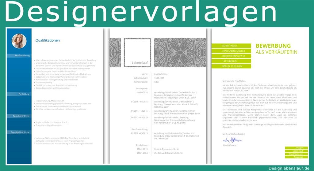 Lebenslauf Beispiel Mit Anschreiben Und Design Deckblatt