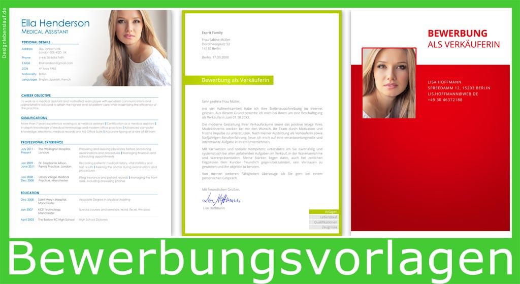 Gute Bewerbung Mit Deckblatt + Anschreiben + Lebenslauf