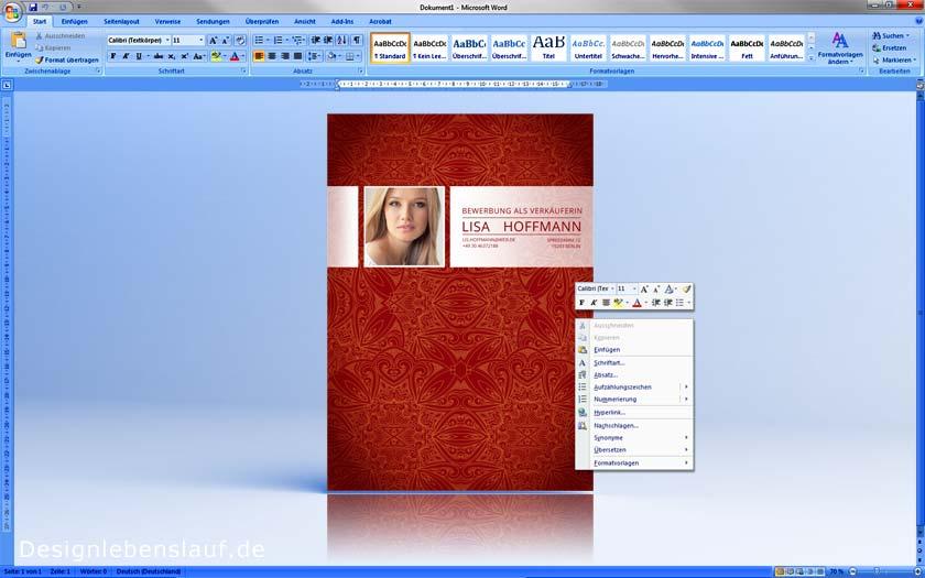 Bewerbung deckblatt vorlagen mit anschreiben lebenslauf for Praktikum design