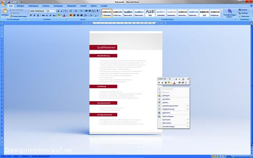Bewerbungsanschreiben Beispiele Mit Ansprechendem Design