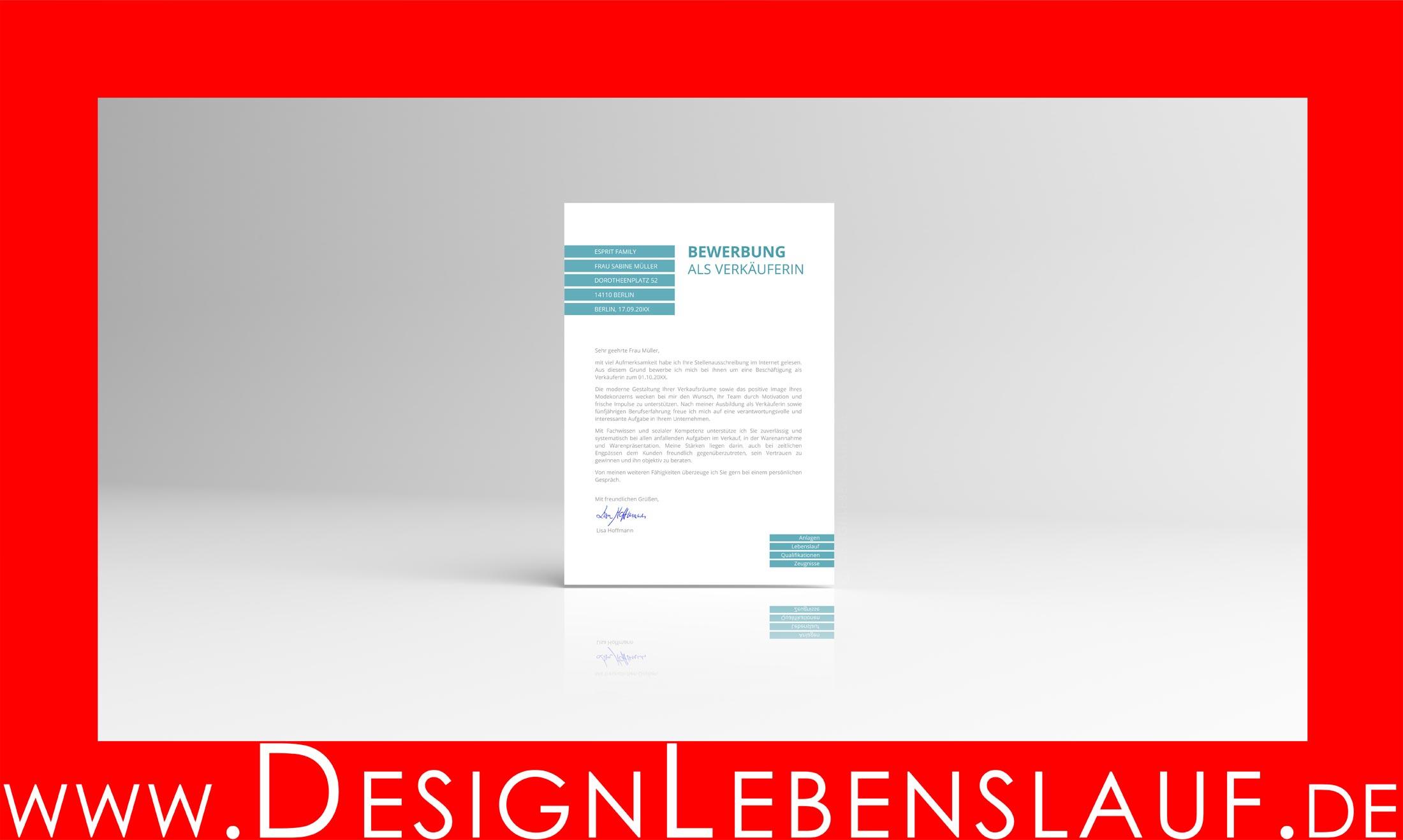 Muster Online Bewerbung Mit Designlebenslauf Als Downloads