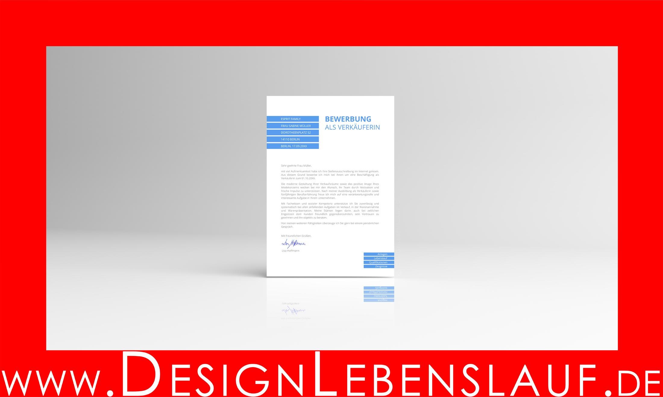 bewerbungsschreiben muster kostenlos mit designlebenslauf. Black Bedroom Furniture Sets. Home Design Ideas